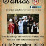 Festa de todos os Santos 04.11.2018 às 10hs
